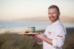 Kieran at Ballyliffin beach with his Chowder