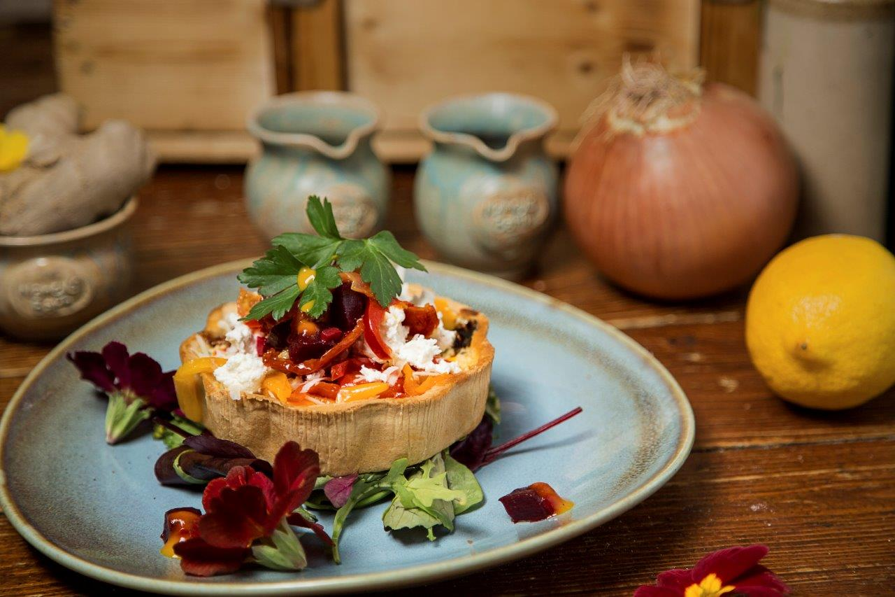 Sunblushed Tomato and Goats Cheese Tartlet