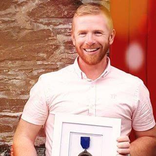 Kieran Doherty (Duey), with his World Seafood Chowder Champion award