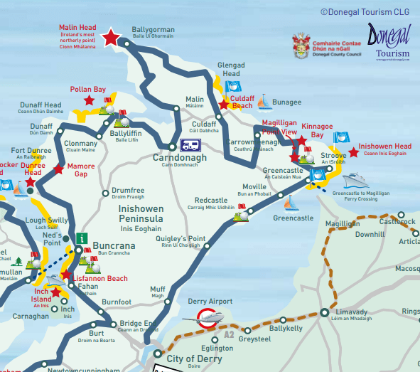 Map of Inishowen