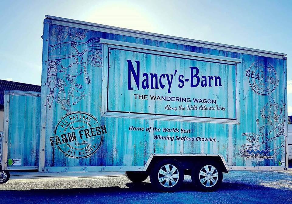 Nancy's Barns mobile catering van