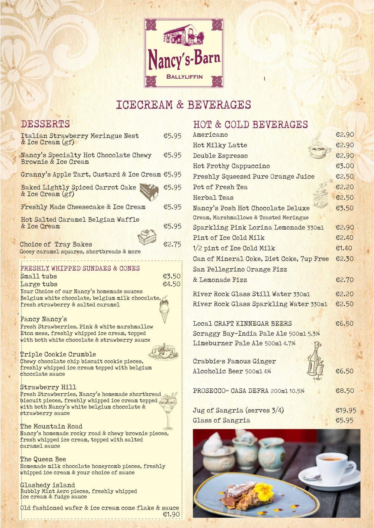 Menu | Breakfasts | Sandwiches | Salads | Desserts